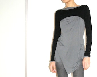 Minimalist Black Fitted Sleeves/Thight Long Sleeves Women's Cropped Cardigan/Black Women Top