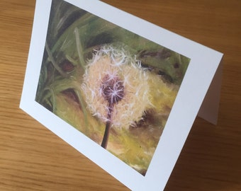 Time Dandelion Art Blank Greeting Card