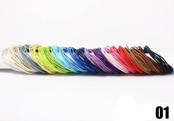 cuero cuerda 2 mm en diferentes colores 10 cintas correa cuanto 1 metros