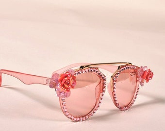 1586136547 Custom sunglasses cute-sunglasses bling sunglasses swarovski crystal  sunglasses-flip up sunglasses- clean-made to order