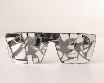 60686c8514 Custom sunglasses bling sunglasses-cute swarovski crystal sunglasses  embellished-broken mirror-rhinestone sunglasses- mirrors sunglasses