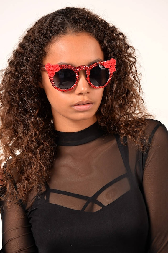 cd91a3b6d5 Crystal Sunglasses-Cute Fashion Sunglasses-Custom Sunglasses