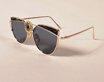 Crystal Sunglasses- third eye- Spike sunglasses-Cute Fashion Sunglasses-Custom Sunglasses-Rhinestone Sunglasses-Woman sunglasses-oversize