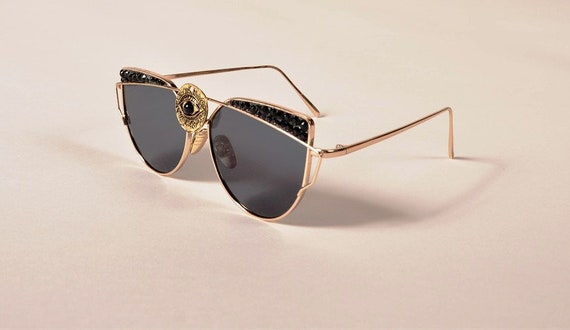 0b23372e4c Crystal Sunglasses third eye Spike sunglasses-Cute Fashion