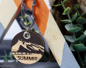 Rundle Mountain - Wood Pet ID Tag