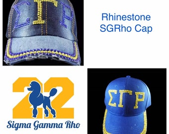 Sigma Gamma Rho Sequin Baseball Hat Cap 62ab2dab7cab