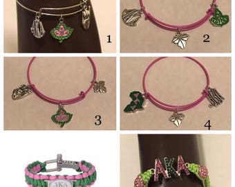 Alpha Kappa Alpha Bracelet 6 To Choose From