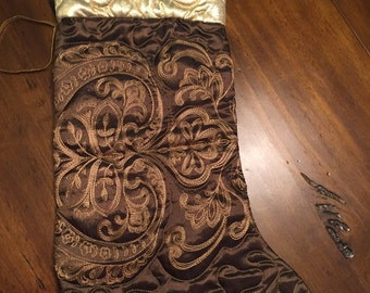 Designer Material Quilted Stockings