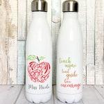 Teacher Appreciation Gift, Stainless Steel Water Bottle for Teachers, Insulated Water Bottle Personalized Teacher Gift, Personalized Gift