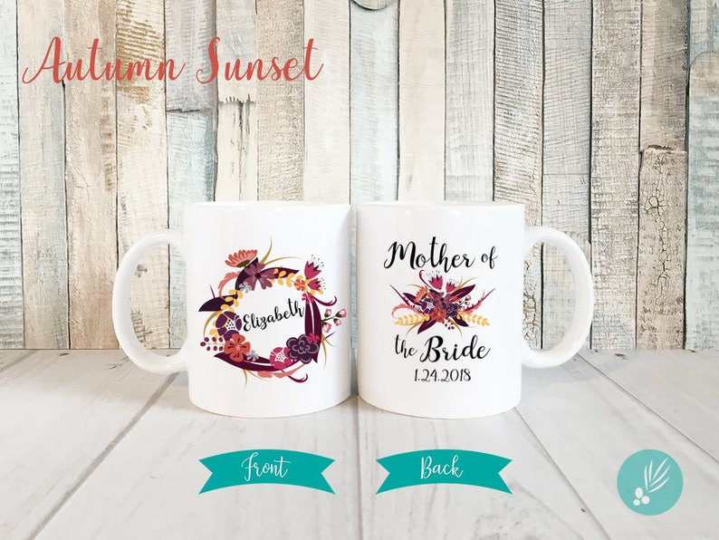 Personalized Mother of Bride Gift Mug Mother of the Bride Mug image 0