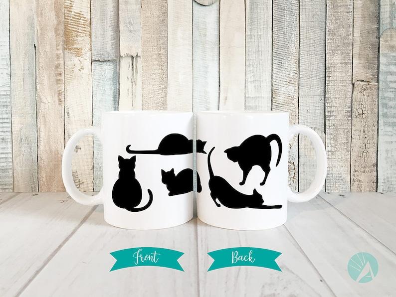 Black Cat Mug Kitty Mug Cat Mug Cat Lover Gift Cute Cat image 0