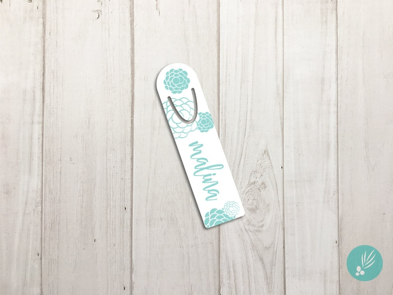 Personalized Metal Bookmark Customized Bookmark Cute Bookmarks image 0
