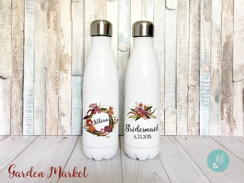 Bridesmaid Gift Bridesmaid Water Bottle Personalized image 0