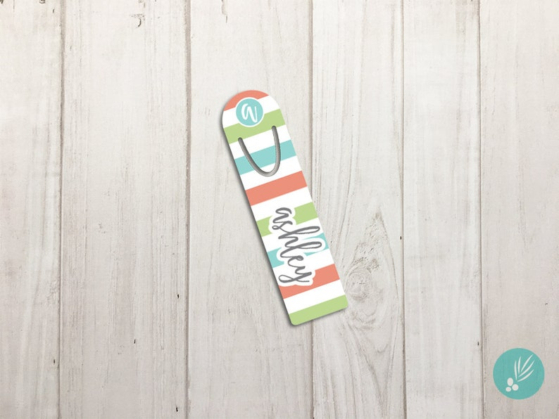 Metal Bookmark Mothers Day Gift Bookmark Personalized Teacher image 0