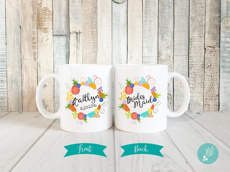 Personalized Bridesmaid Mug Wedding Personalized Mug image 0
