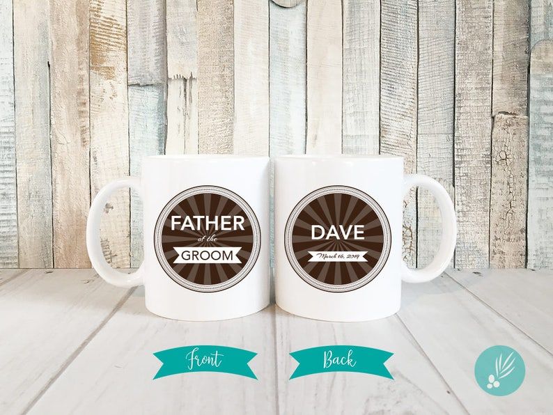 Father of the Groom Gift Personalized Father of the Groom image 0