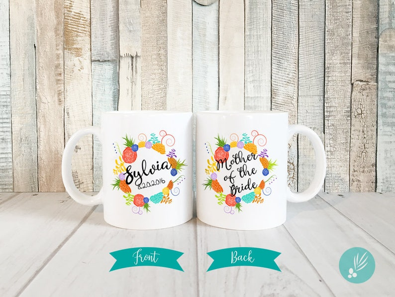 Personalized Mother of the Bride Gift Mother of Bride Mug image 0