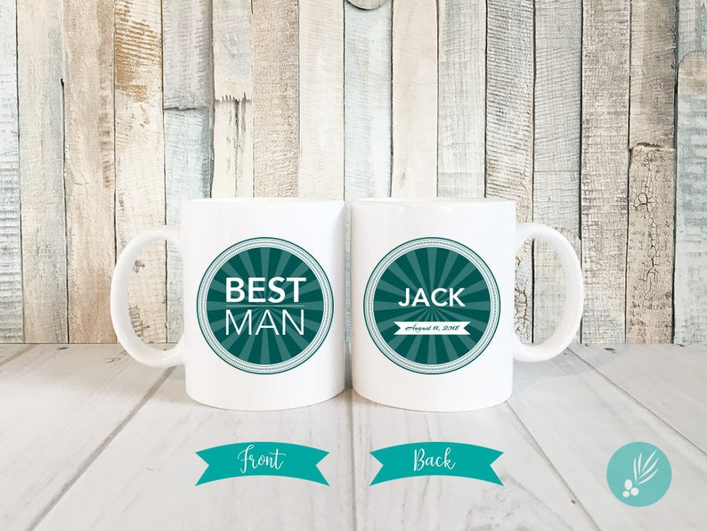 Best Man Gift for Best Man Coffee Mug Personalized Best Man image 0