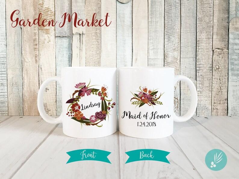 Personalized Maid of Honor Gift Mug Maid of Honor Mug Maid image 0