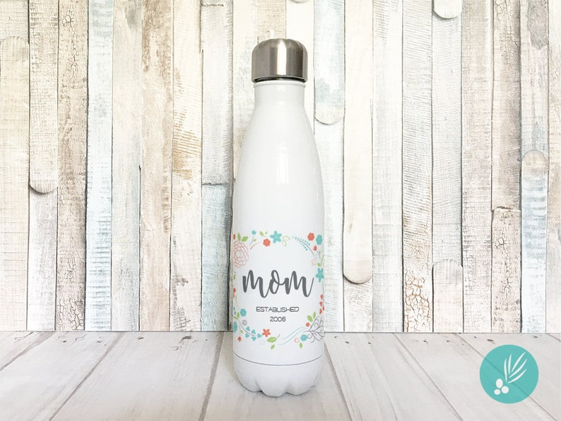 Mothers Day Gift for Mom Insulated Water Bottle Baby Shower image 0