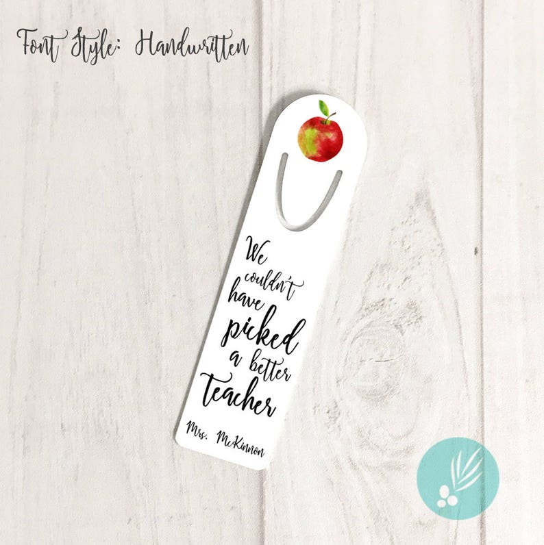 Teacher Appreciation Gift Ideas Personalized Apple Gift for image 0