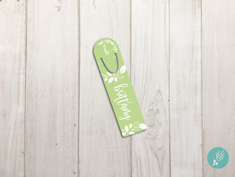 Bookmark Personalized Teacher Gift Metal Bookmark Mothers Day image 0