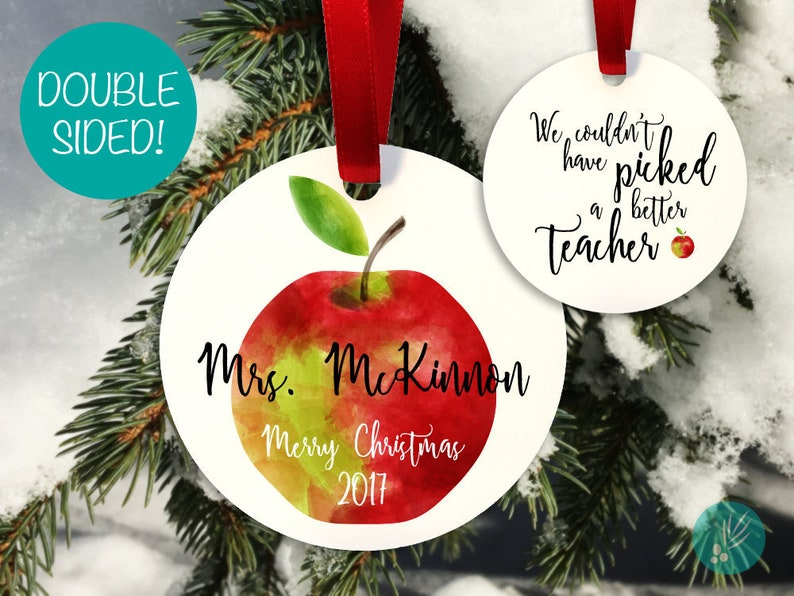 Personalized Teacher Christmas Ornament Personalized Christmas image 0