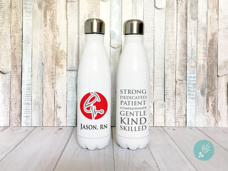 Stainless Steel Water Bottle for Nurses Week Gift Med School image 0