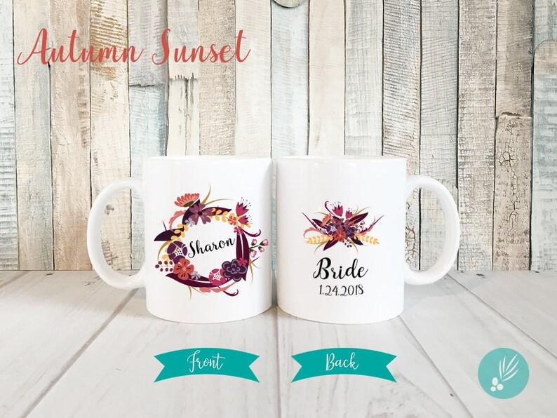 Personalized Bride Mug Gift Mug Engagement Mug Personalized image 0