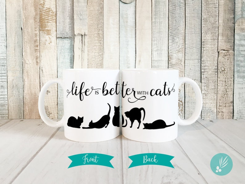 Cat Mug Kitty Mug Cat Lover Gift Cute Cat Mug Crazy Cat image 0