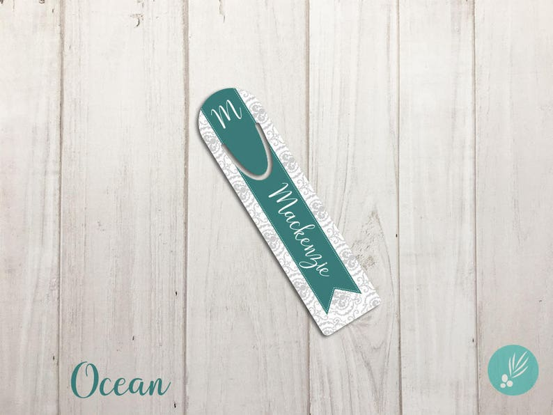 Personalized Gift for Women Damask Bookmark for Mom Pretty image 0