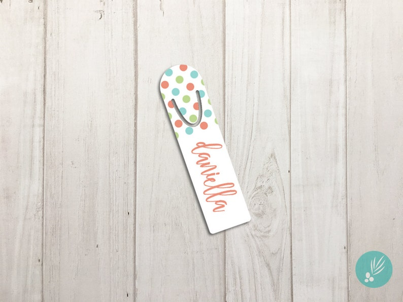 Metal Bookmark Mothers Day Gift Personalized Bookmark for image 0