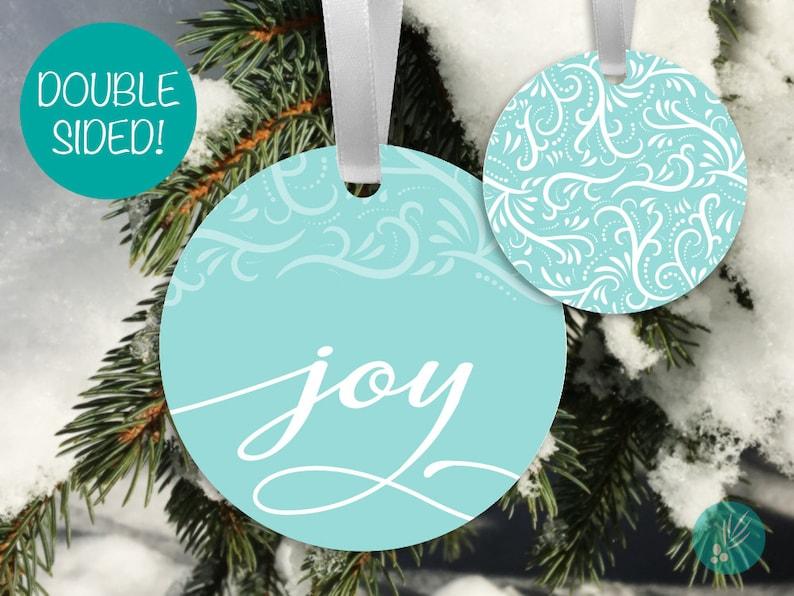 Joy Christmas Ornament Metal Ornaments Modern Christmas image 0