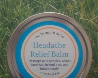 Headache Relief Balm/ All Natural/ Headache Relief/Calming/Uplifting Scent