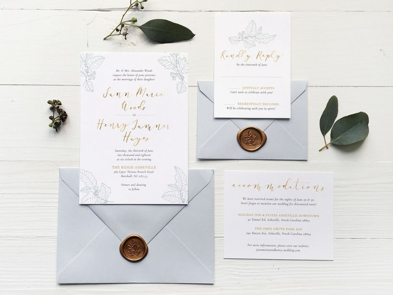 The Jann Marie Wedding Invitation Suite Wedding Invitation image 0