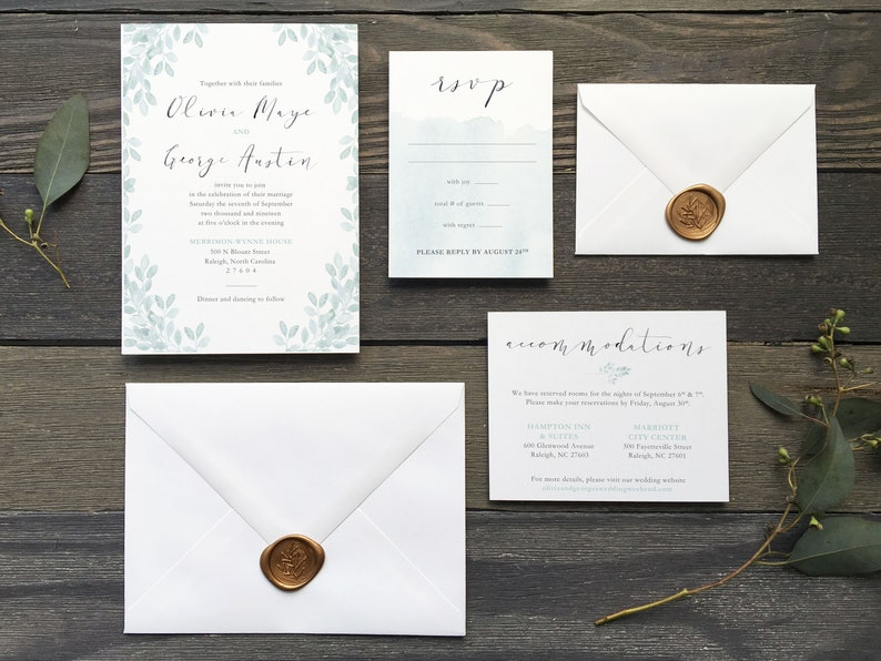 The Olivia Wedding Invitation Suite Wedding Invitations image 0