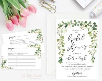 Printable Bridal Shower Invitation /  Shower Invite, Wedding Shower  - Garden Shower