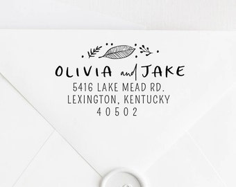 Return Address Stamp, Address Stamp, Custom Address Stamp, Housewarming Gift, Personalized Return Address Stamp, Rubber Stamp 101