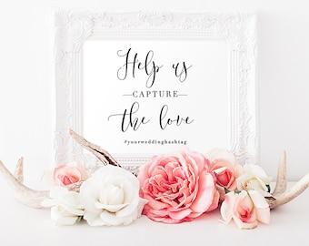 Share the Love Sign, Wedding Hashtag Sign, Wedding Decor, Social Media Sign, Wedding Printable - A18