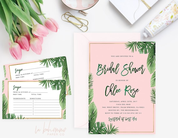 d103da0fed81 Printable Bridal Shower Invitation   Shower Invite Tropical