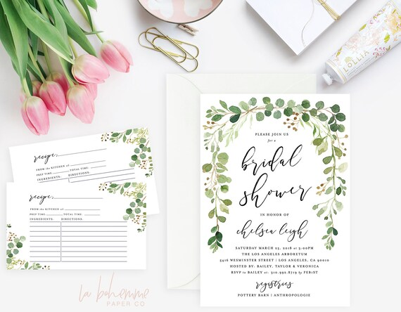 It's just a photo of Printable Bridal Shower Invitations throughout blank