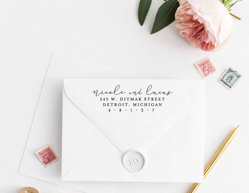 Address Stamp Personalized Return Address Stamp Custom Address Stamp Rubber Stamp 113 Wedding Return Address Stamp Return Address Stamp