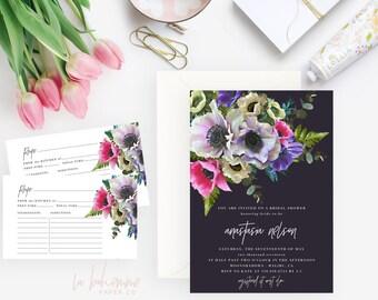 Printable Bridal Shower Invitation /  Shower Invite, Wedding Shower  - Anastasia
