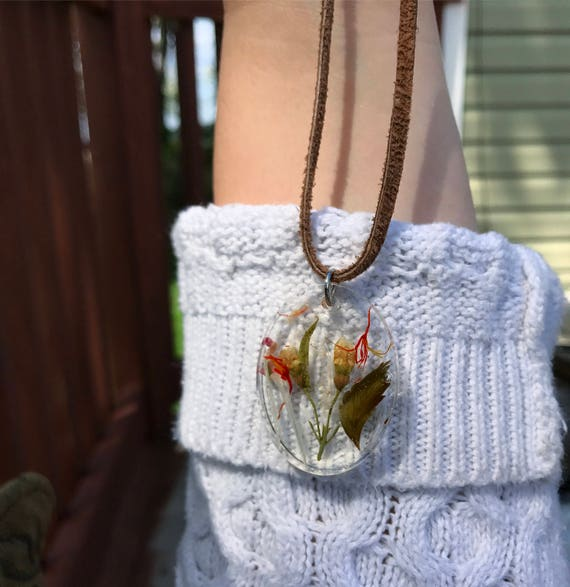 Quartz Infused Flower Power Neckalce