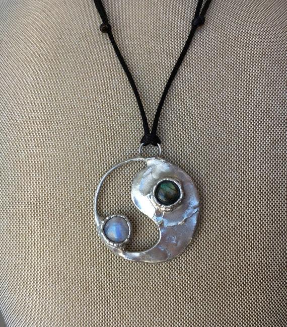 Crystalized Ying Yang Pendant