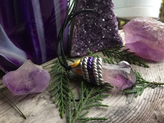 Amethyst & Citrine Crescent Moon