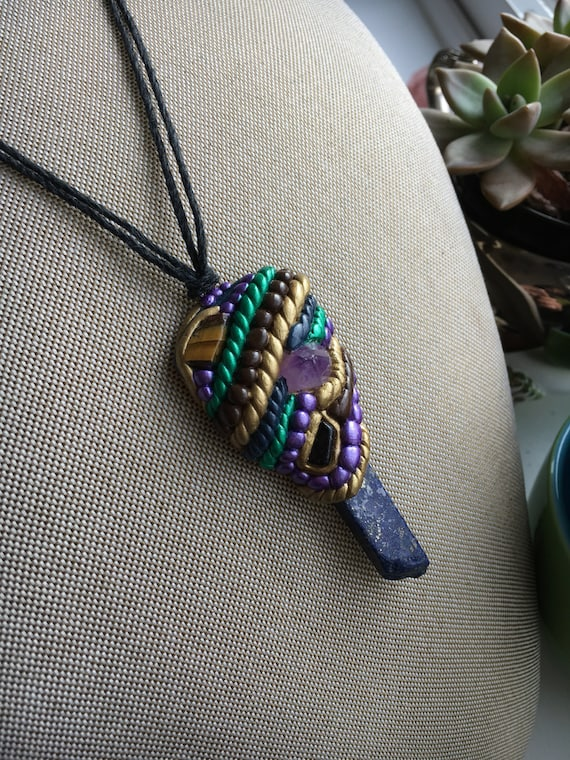 Crystalized Mardi Gras Pendant