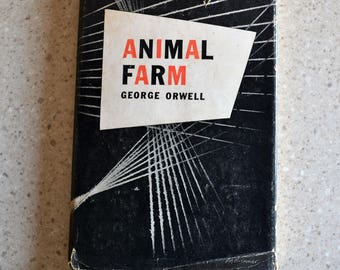 1946 Animal Farm George Orwell Harcourt Brace and Company First American Edition Dust Jacket Present Collectible Book