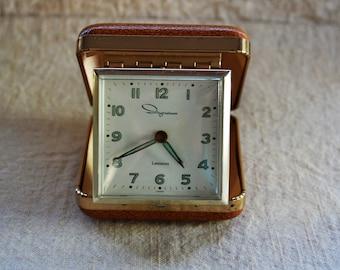 Vintage Travel Alarm Clock Ingraham Illuminated Wind Up Portable Clock Retro Working Travel Alarm Clock
