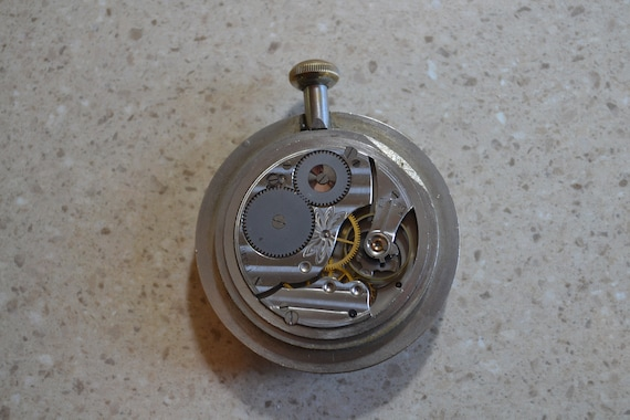 Waltham Auto Clock Vintage Brass Car Dash Clock Wind Up Clock Antique Car  Clock Working